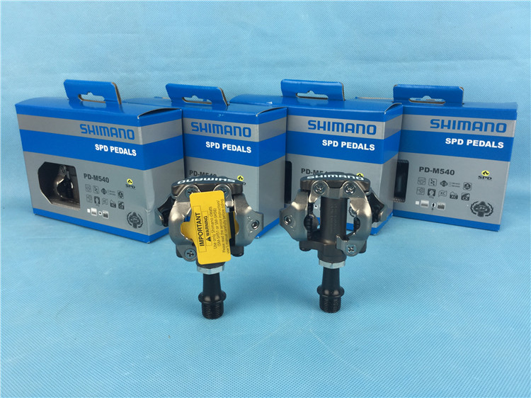 ФОТО SHIMANO PD-M540 SPD pedals mountain bicycle self-locking pedals mtb bike pedal free ship cheap cycling pedal
