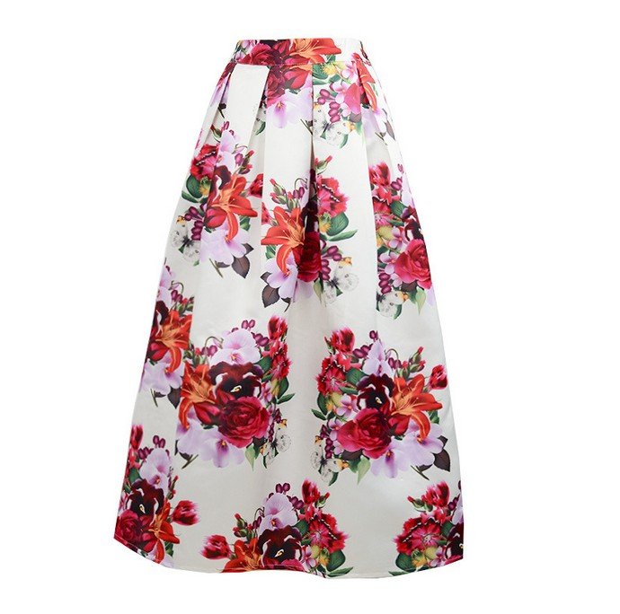 Compare Prices on Floral Print Maxi Pleated Skirts- Online ...