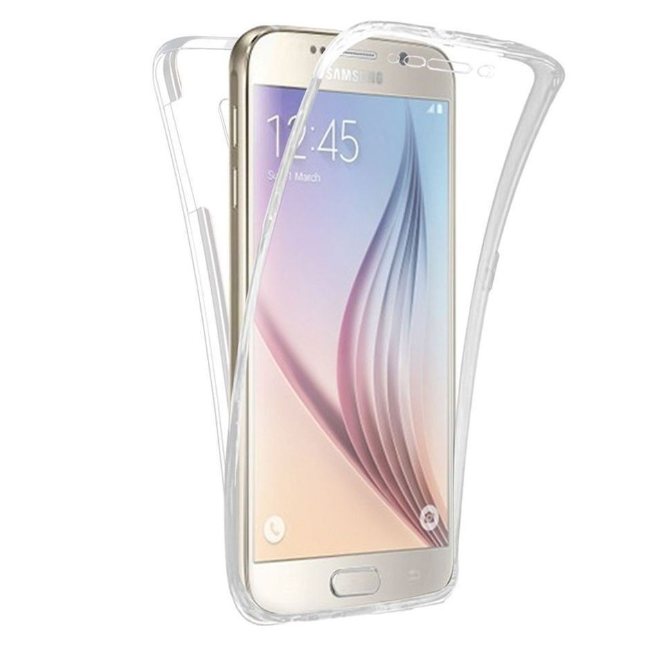 Luxucy Soft TPU Transparent font b 360 b font Degree Full Body Protective Front Back Case