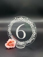 Unique table number holders Laser cut table numbers Clear acrylic wedding party