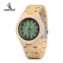 Bobo pássaro wp12 relógio de madeira de bambu quente para as mulheres design da marca 4 horas lug de madeira relógio de quartzo rosto como presente oem dropshipping