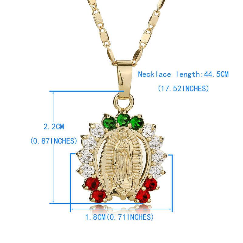 OUMEILY hueco collar con colgante de cuentas Vintage de moda joya de Israel árabe turco joyería Virgen María collares