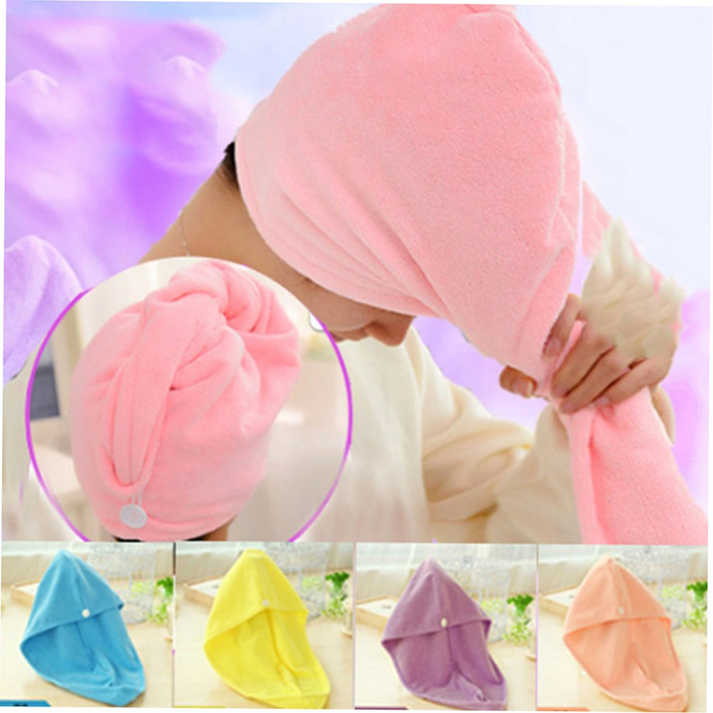 Hair-Cap Article Household-Products Pink Super-Absorbent Familiar of Life-Supplies Daily
