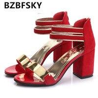 קיץ כפכפים נשים סנדלי נשים סנדלי אצבע של נועלת סנדלי העקב עבה נעלי נשים נעלי טריז פלטפורמת גלדיאטור סגנון קוריאני