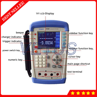 Handheld AC milliohm meter Battery Tester 1mV to 50V With Data Hold function Battery Internal Resistance Tester AT528