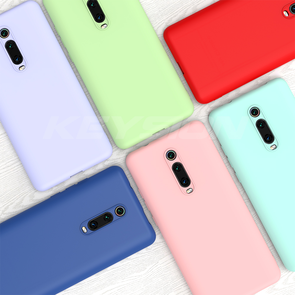 Image 2 - KEYSION Liquid Silicone Case for Xiaomi Mi 9T Pro Redmi K20 Pro Soft TPU Shockproof Coque Phone Cover For Xiaomi Mi 9T Mi 9 9 SE-in Fitted Cases from Cellphones & Telecommunications