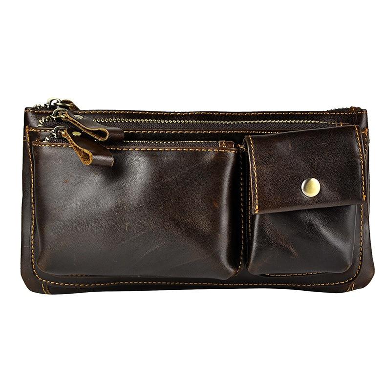 Fashion Punk Vintage Casual 100% Genuine Leather Cowhide Men Belt Waist Bag Pack Packs Chest Bag For Man Hot Selling bulk save goya pinto beans 1lb bag 6 pack 24 to 96 packs each 16oz