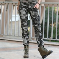 New Design Summer Camouflage Pants Women Fashion Casual Sports Outdoor Loose Sport Cargo Pants Women Military