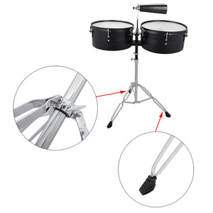 """Image 5 - 13"""" & 14"""" Timbales Drum Set With A Premium Steel Cowbell A pair of Drum Sticks and Cowbell Holder High Quality Training Drum"""