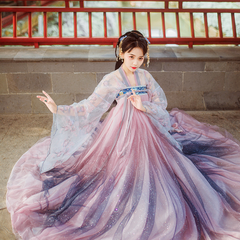 2019 Traditional Women Tang Ancient Chinese Costume Beautiful Dance Hanfu Costume Princess Dynasty Chinese Hanfu Dress
