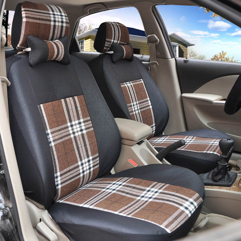 Yuzhe flax Universal car seat covers For Citroen C3-XR 2015 C-Elysee 2015-2013 C4 Aircross Picasso C4L C5 accessories styling for citroen c4 picasso ud