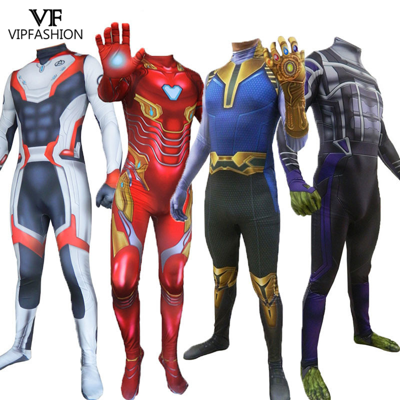 VIP FASHION Moive Classic  Endgame Quantum Realm Cosplay Superhero Bodysuit Halloween Costume Adult Kid