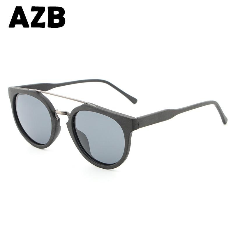 AZB 2017 new postage fashion retro style natural protection people bamboo polarized sunglasses HB023 without bamboo box