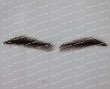 hand made human hair man false eyebrow 019B black color hand knot fake eyebrow