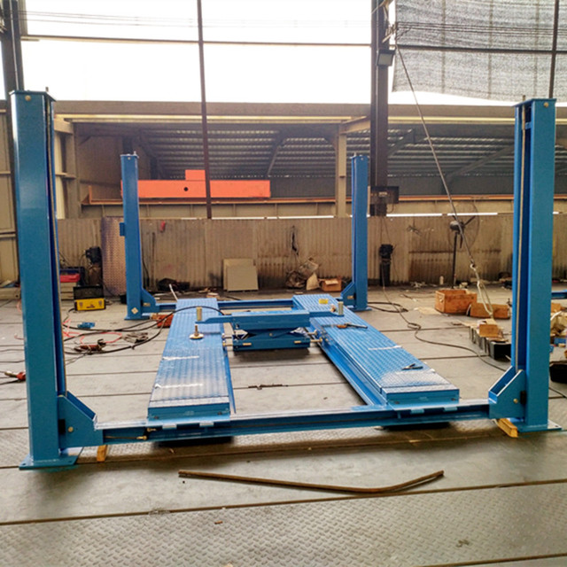 Low Price 4 Post Car Lift For Car Suv With Alignment Car Jack Esay