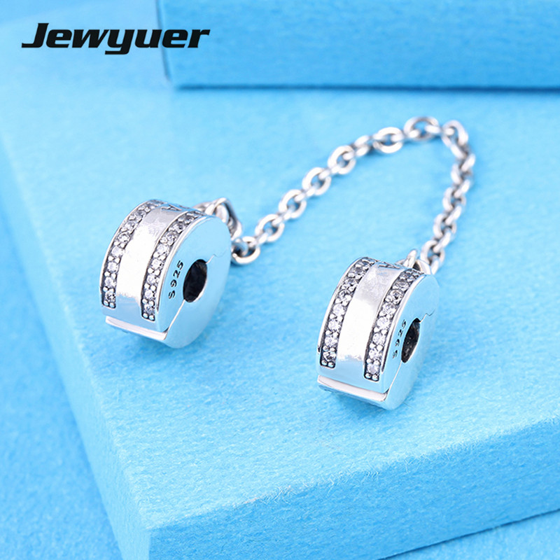New 2017 spring Insignia Safety Chain charms 925 sterling silver Charm fit beads bracelets DIY making Fine Memnon Jewelry SF013New 2017 spring Insignia Safety Chain charms 925 sterling silver Charm fit beads bracelets DIY making Fine Memnon Jewelry SF013