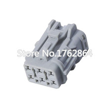 10 sets 6 pin automotive sensor gray harness connector with terminal block DJ7061Y-2-21 6P