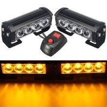 HEHEMM 8 светодиодный мерцающий Предупреждение свет мигает лампа для грузовик приборной панели автомобиля 12 В DC Amber красный, белый