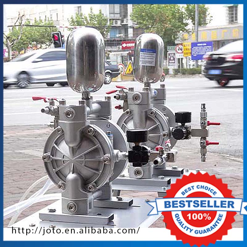 Portable Pneumatic Diaphragm Pump Aluminum Alloy Double Way Ink Pneumatic Diaphragm Pump ink pump for roland sj640 ra640 re640 re540 fh740 vs300 vs540 vs640 vp300 vp540 xf640 rf640 rfa640 roland ink pump u type
