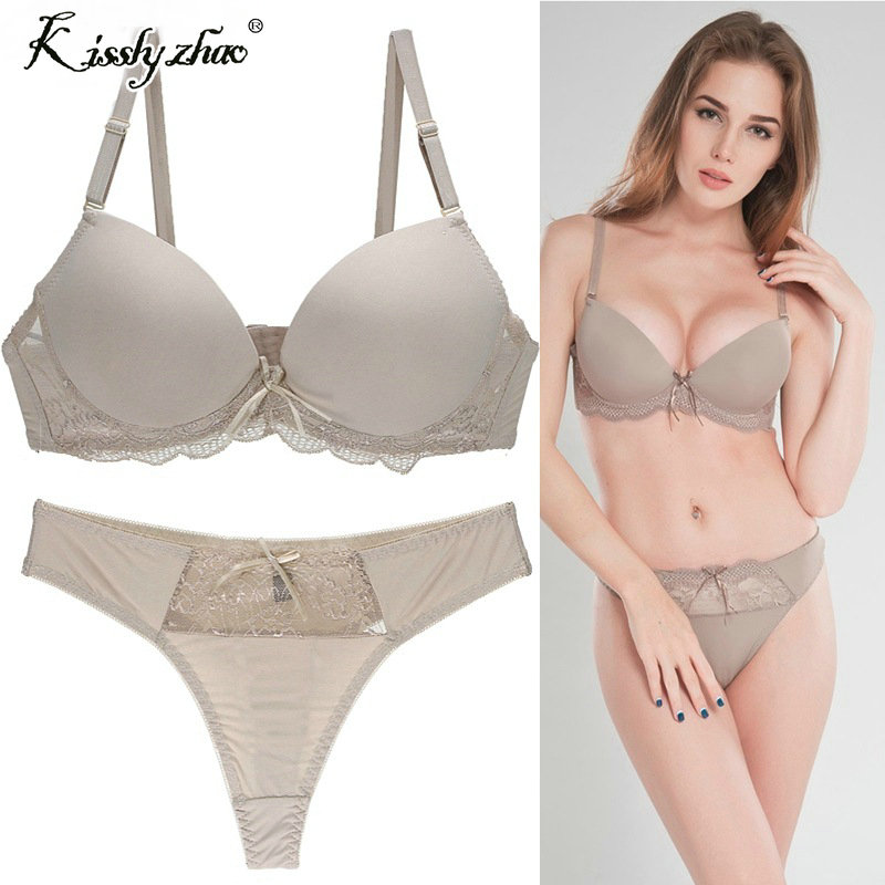 0c186aeb48 2018 New Arrival lace bra set padded push up bra bra panties underwear  women briefs intimates women s lingerie-in Bra   Brief Sets from Underwear  ...