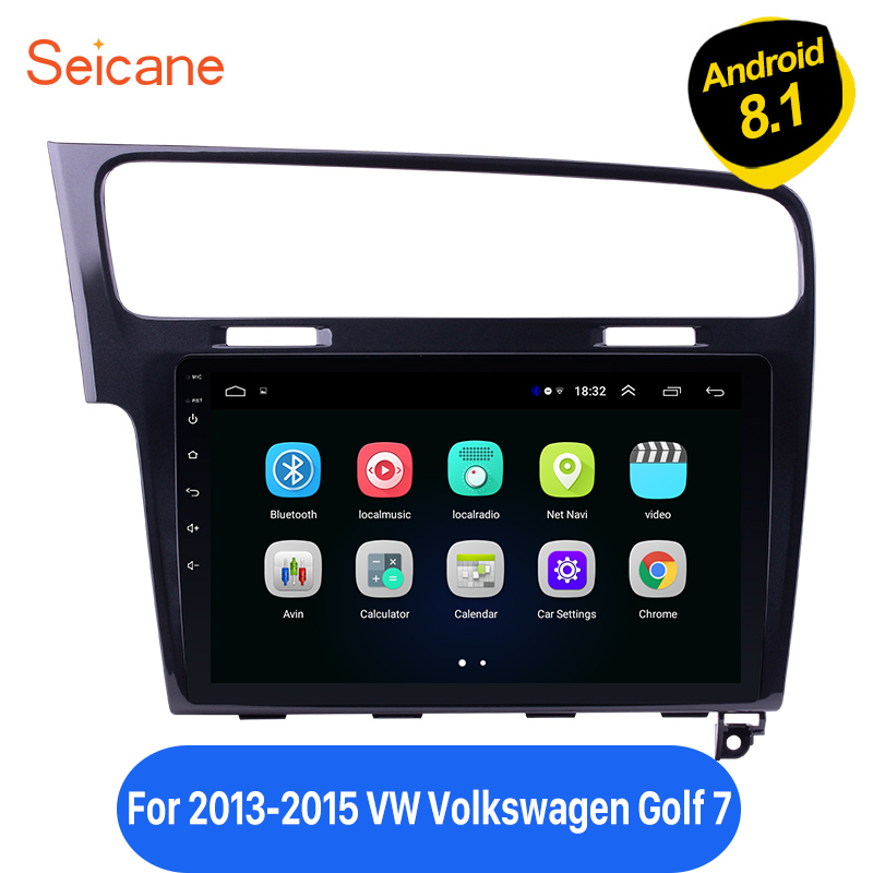 Seicane Android 8.1 10.1 inch Car GPS Navi Autostereo Head Unit Player For 2013 2014 2015 <font><b>VW</b></font> Volkswagen <font><b>Golf</b></font> <font><b>7</b></font> WIFI 2Din 4-core image