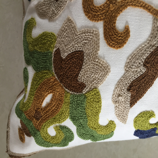 Embroidery sofa cushion cover  throw pillows covers