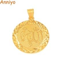 Charms-Pendants Jewelry Allah Gold-Color Muslimic Wholesale Anniyo Copper for Women/men