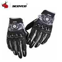 SCOYCO Motorcycle Gloves Breathable Wearable Leather Racing Gloves Men Women Motorbike Guantes Luvas Moto Motocross Gloves