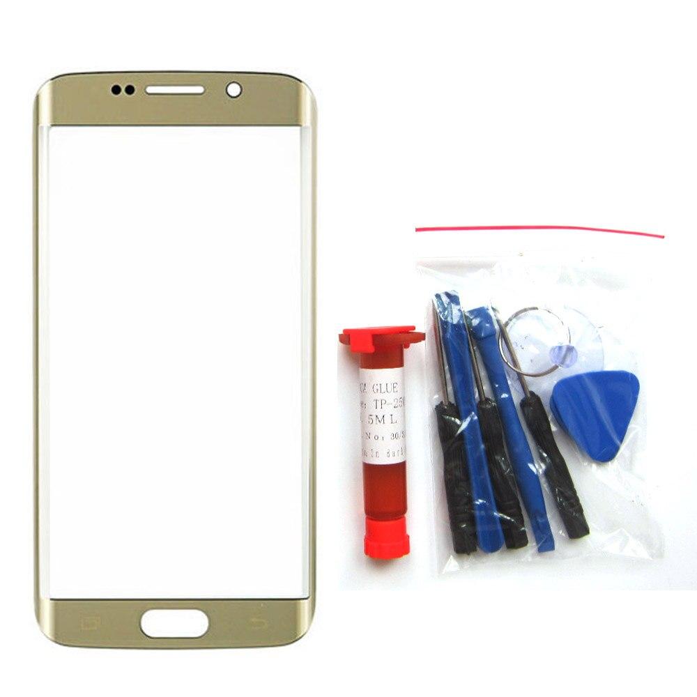 Avant Outer Lentille En Verre Pièce De Rechange pour Samsung Galaxy S7 bord G935W8 G935F/FD G9350 Écran Tactile S8 + UV colle + Outils