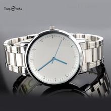 Мода кварцевые часы для мужчин Против Часовой Стрелки Назад Наручные часы Аналоговые Водонепроницаемый Мужской Часы Из Нержавеющей Стали мужские часы