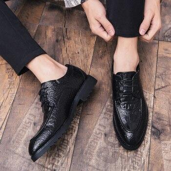 Scarpe Da Uomo In Coccodrillo | Degli Uomini Di Marca Pattini Di Vestito Di Affari Scarpe Formali Di Cuoio Di Modo Del Modello Del Coccodrillo Scarpe Da Uomo Di Lusso Oxford Da Sposa In Pizzo Up Scarpe K3