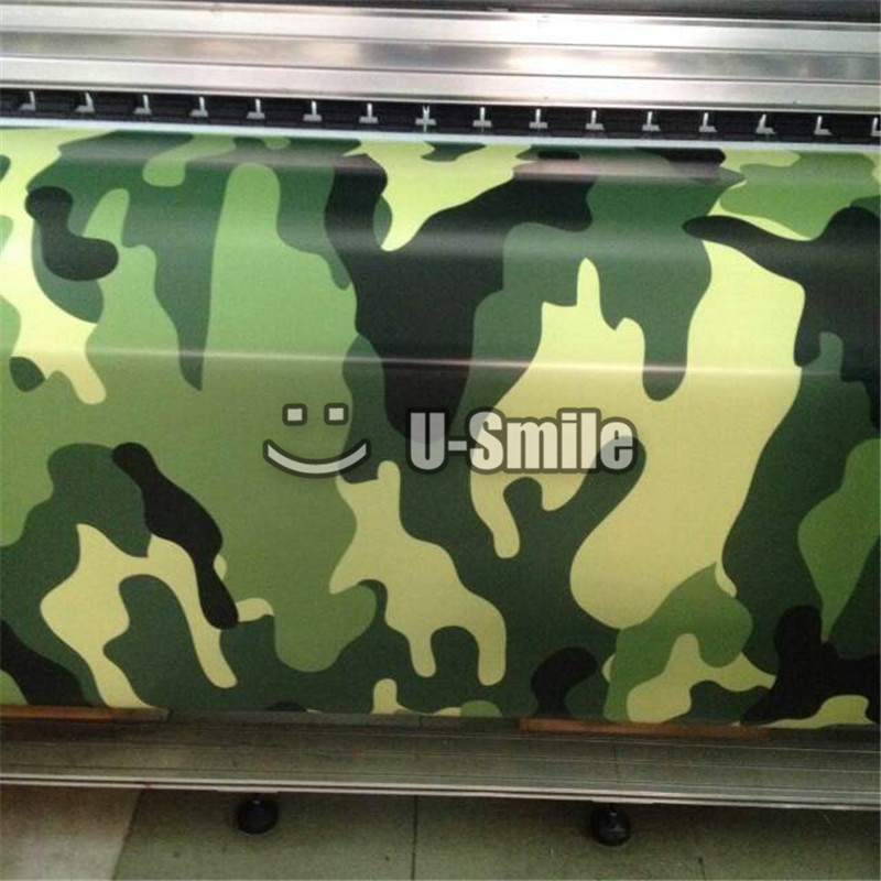 Jumbo Elite Green Camouflage Car Wrap Jungle Urban Camo Vinyl Sheet Bubble Free For SUV TRUCK Jeep 30M/Roll