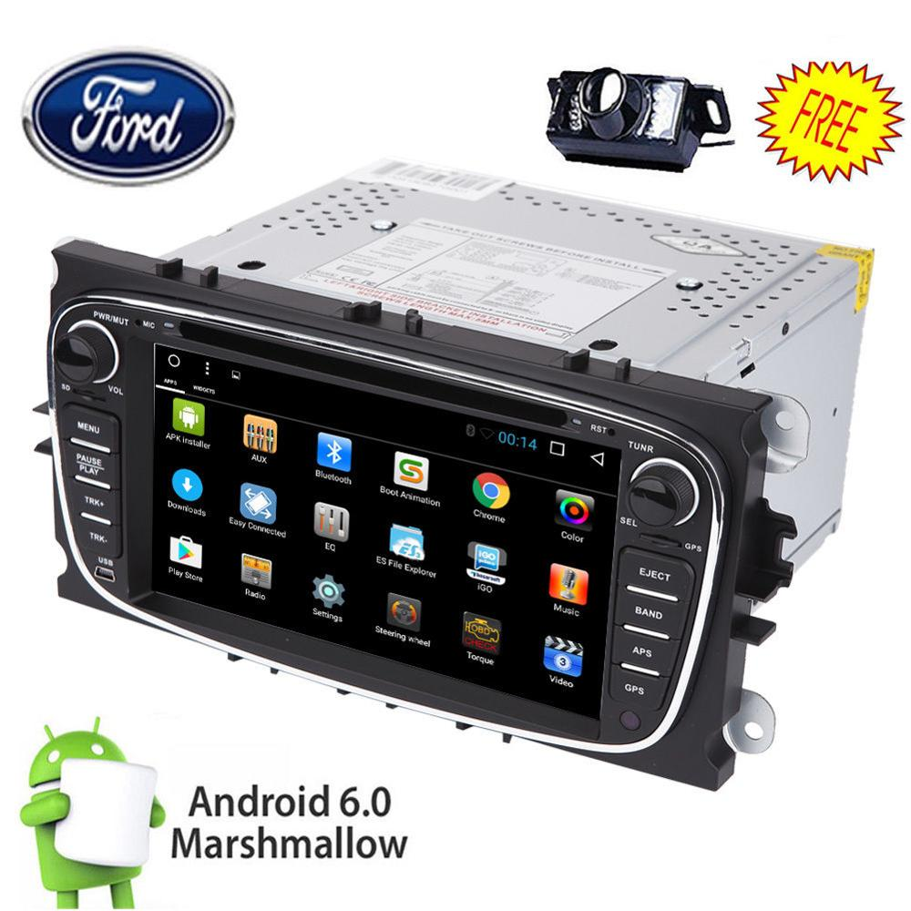 Android 6.0 Car DVD Player GPS Navi Radio for Ford Mondeo Focus S-Max 2007-2011 GPS head unit tape recorder stereo radio