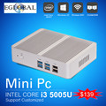[5gen Бродуэлла i3 5005U] Игры PC Мини-Компьютер Кну Безвентиляторный Micro PC Win 10 TV Box WiFi VGA HDMI CE FCC ROHS HTPC