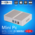 [5gen broadwell i3 5005u] nuc gaming pc mini computadora sin ventilador micro pc Win 10 WiFi TV Box VGA HDMI CE FCC ROHS HTPC
