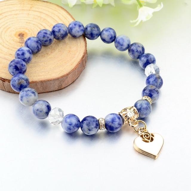 Купить женский браслет с натуральным камнем chicvie этнический в стиле картинки