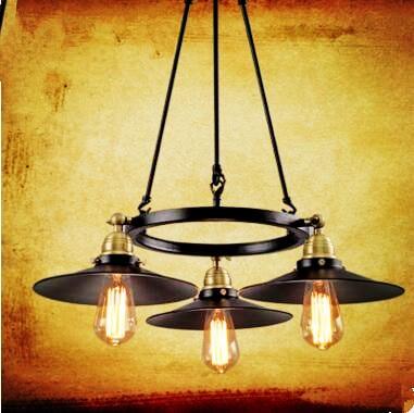 ٩ ۶american Retro Lampe Vintage Light Loft Style Industrial Lamp
