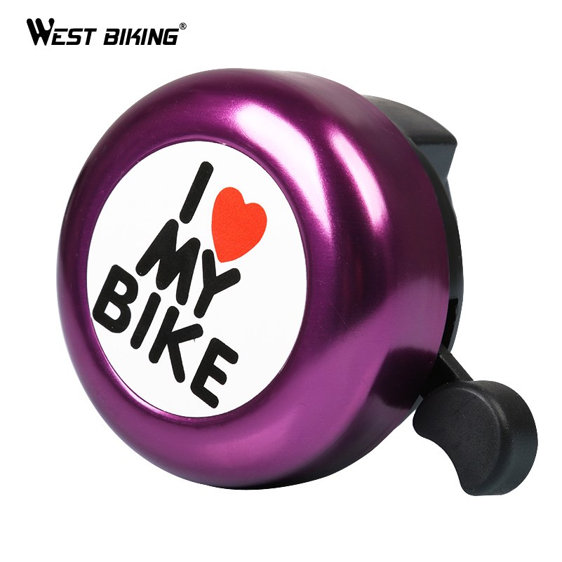 WEST BIKING Bike Bell Handlebar Bell Loud Sound Ring Horn Bicycle Accessories MTB Road Bike Cycling Bicycle Alarm Ring Bell