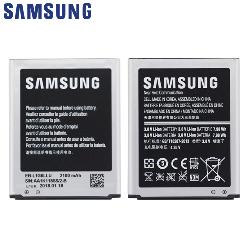 SAMSUNG Replacement Phone Battery EB-L1G6LLU Spare For Samsung I9300 GALAXY S3 I9308 L710 I535 Phone Battery 2100mAh