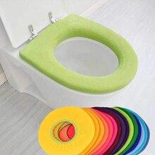 Аксессуары для ванной комнаты Набор унитаза крышка коврик теплый мягкий унитаз крышка сиденья коврик ванна унитаз протектор