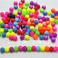 Top Quality 500pcs Mixed Candy Color Acrylic Rubber Beads Neon Matte Round Spacer Loose Beads Jewelry Handmade 6mmround Shape