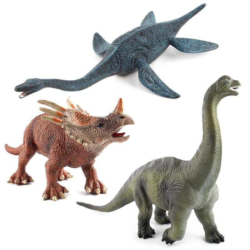 Jurassic Plésiosaures Brachiosaurus Dinosaures Modèles En Plastique Parasaurolophus Animaux Figurines Collection Jouets # E