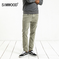 SIMWOOD Fashion Paint Splat 2019 Vintage Men Jeans Casual Hole Zipper Denim Pants Man Trousers Plus Size Free Shipping NC017053