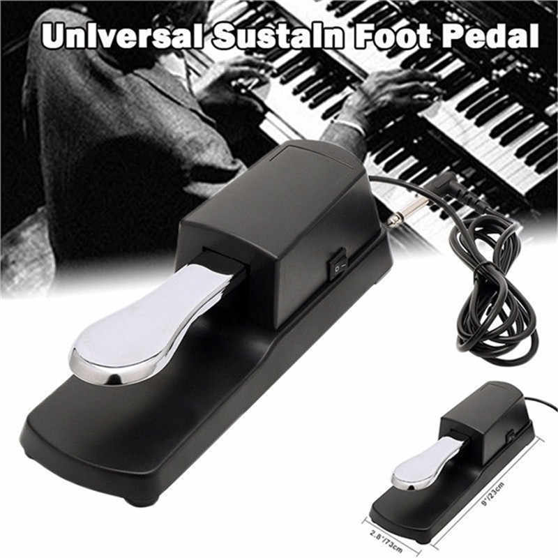 6.35mm Jack Sustain Pedal Non-slip Base for Electronic Keyboard Piano Replacement Part