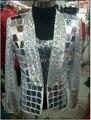 Новинка блестки ночной клуб бар певцы-мужчины верхняя одежда DJ производительность блейзер DS свет мужская этап носить пиджак костюм костюмы