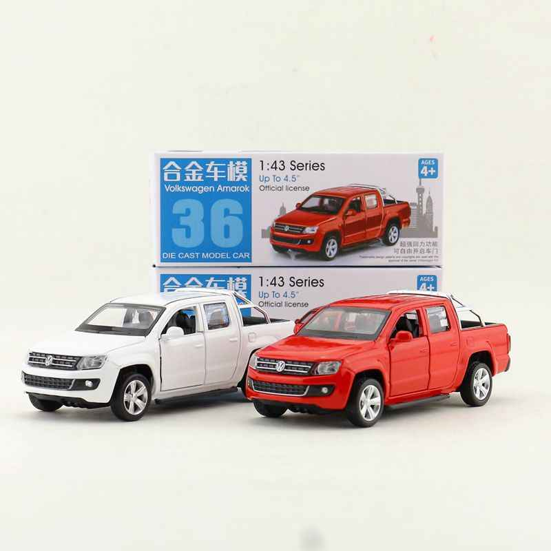 Box gift model,High simulation 1:43 alloy pull back Amarok pickup cars,Original packaging,selling toys,free shipping