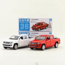 קופסא מתנת דגם, גבוהה סימולציה 1:43 סגסוגת למשוך בחזרה Amarok טנדר מכוניות, אריזה מקורית, למכור צעצועים, משלוח חינם