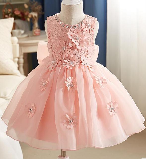 5683b44a55b Летняя Новинка 2017 г. костюм платье принцессы для девочек Детские вечерние  Костюмы Дети шифон Кружево