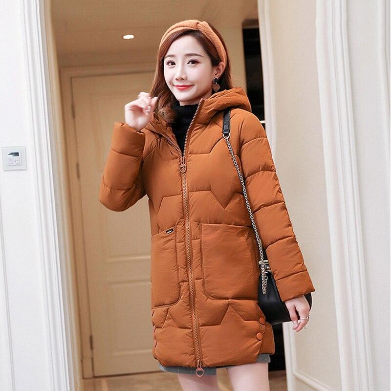 Ladies Winter Parkas Lady Cotton Outerwear 2018 New Female Warm Coat Ms Large Fur Collar Loose Winter Jacket Women Overcoat N476