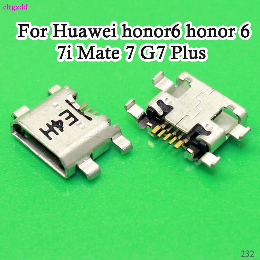 Cltgxdd 10PCS For Huawei P7 P8 Lite 2017 Maimang 6 Honor 8 Lite USB Charging Port Connector Charge Dock Socket Plug Jack